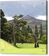 Green Green Garden And Mountain Acrylic Print