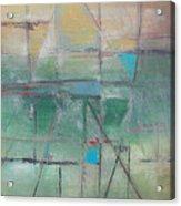 Green Hatches Acrylic Print