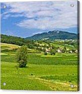 Green Hills Nature Panoramic View Acrylic Print