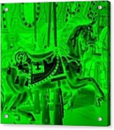 Green Horse Acrylic Print