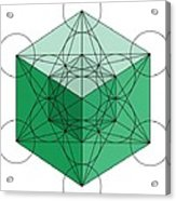 Green Hypercube Acrylic Print