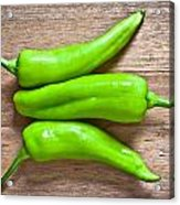 Green Jalapeno Peppers Acrylic Print