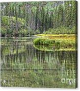 Green Lake Acrylic Print
