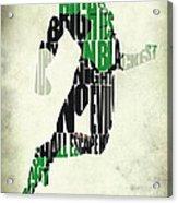 Green Lantern Acrylic Print by Ayse Deniz
