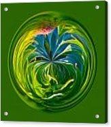 Green Leaf Orb Acrylic Print
