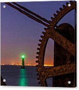 Green Lighthouse Acrylic Print