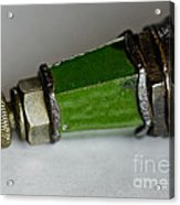 Green Lighthouse Spark Plug Acrylic Print