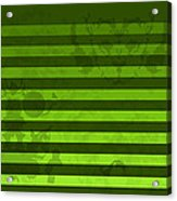 Green Lines And Feelings Acrylic Print