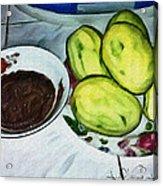 Green Mangoes Acrylic Print