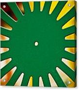 Green Memorial Union Chair Acrylic Print by Christi Kraft