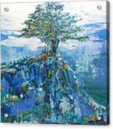 Green Mountain Tree Acrylic Print