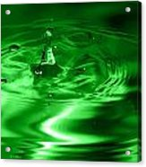 Green Multi Colored Water Drop Bubbling Acrylic Print