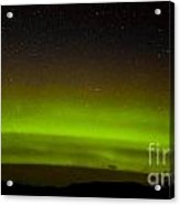 Green Northern Lights And Myriad Of Stars Acrylic Print