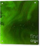 Green Northern Lights Night Sky Abstract Backdrop Acrylic Print