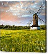 Green Ocean ''pitstone Windmill'' Acrylic Print