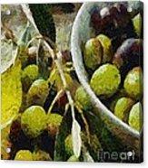 Green Olives Acrylic Print
