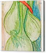 Green Onions Acrylic Print