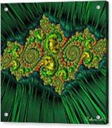 Green Ornament Acrylic Print