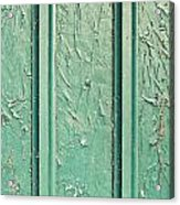 Green Painted Wood Acrylic Print