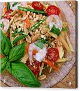 Green Papaya Salad With Shrimp Acrylic Print