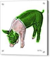 Green Piglet - 0878 Fs Acrylic Print