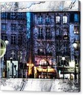 Green Pipes Of Pompidou Center Paris Acrylic Print