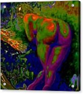 Green Pleasure Of Mutual Happiness Acrylic Print