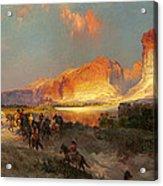 Green River Cliffs Wyoming Acrylic Print