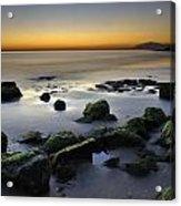 Green Rocks At Sunset Acrylic Print