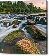 Green Rocks Acrylic Print