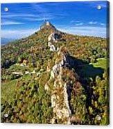 Green Scenery Of Kalnik Mountain Ridge Acrylic Print