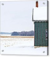 Green Shed Acrylic Print by Ty Helbach