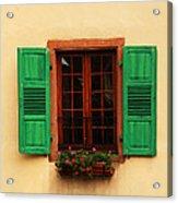 Green Shutters In Niedermorschwihr France Acrylic Print