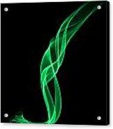 Green Smoke Acrylic Print
