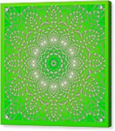 Green Space Flower Acrylic Print