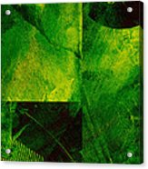 Green Square Abstract Acrylic Print
