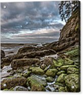 Green Stone Shore Acrylic Print by Jon Glaser