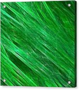 Green Streaming Acrylic Print