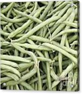 Green String Beans Display Acrylic Print