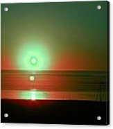 Green Sunset Acrylic Print