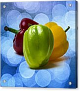 Green Sweet Pepper - Square - Textured Acrylic Print