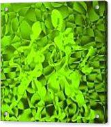 Green Tango Rhythms Acrylic Print