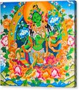 Green Tara 12 Acrylic Print