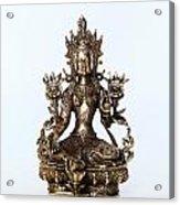 Green Tara Goddess Statue Acrylic Print
