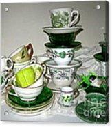 Green Teacups  Acrylic Print