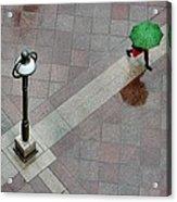 Green Umbrella Acrylic Print