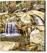 Green Valley Falls Winter Acrylic Print