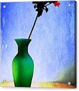 Green Vase 2 Acrylic Print by Donald Davis