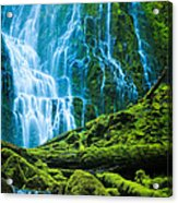 Green Waterfall Acrylic Print