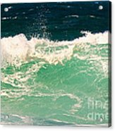 Green Wave Pacific Grove Ca  Acrylic Print by Artist and Photographer Laura Wrede